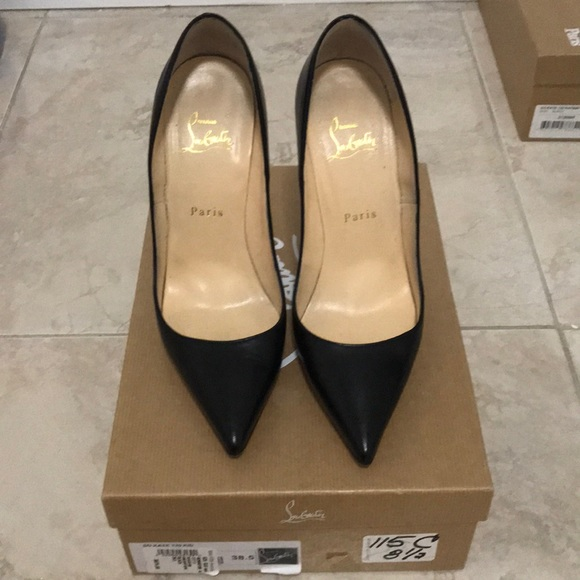 release date: 6eca7 5e732 Christian Louboutin So Kate Black Kid Leather Pump